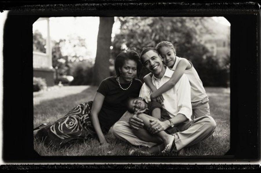 La famille Obama, en 2007.