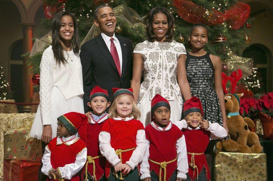 La famille Obama, en décembre 2013.
