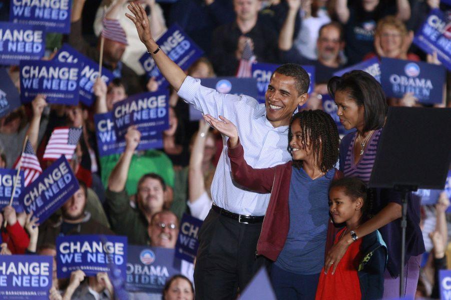 La famille Obama, en novembre 2008.