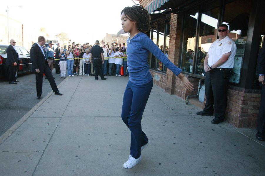 Malia Obama, en novembre 2008.