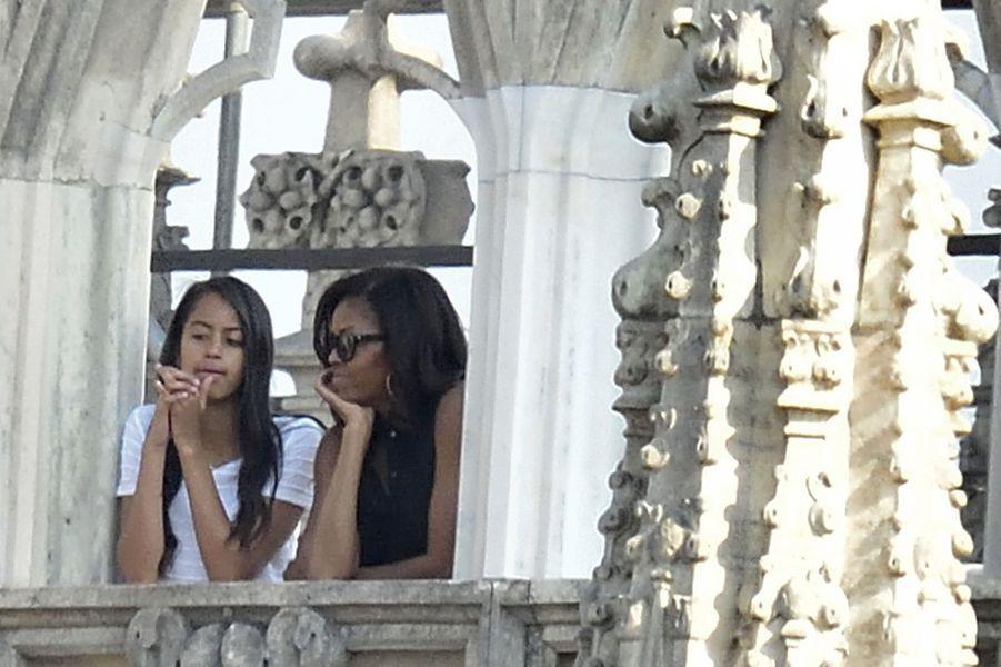 Michelle Obama et sa fille Malia, en juin 2015.