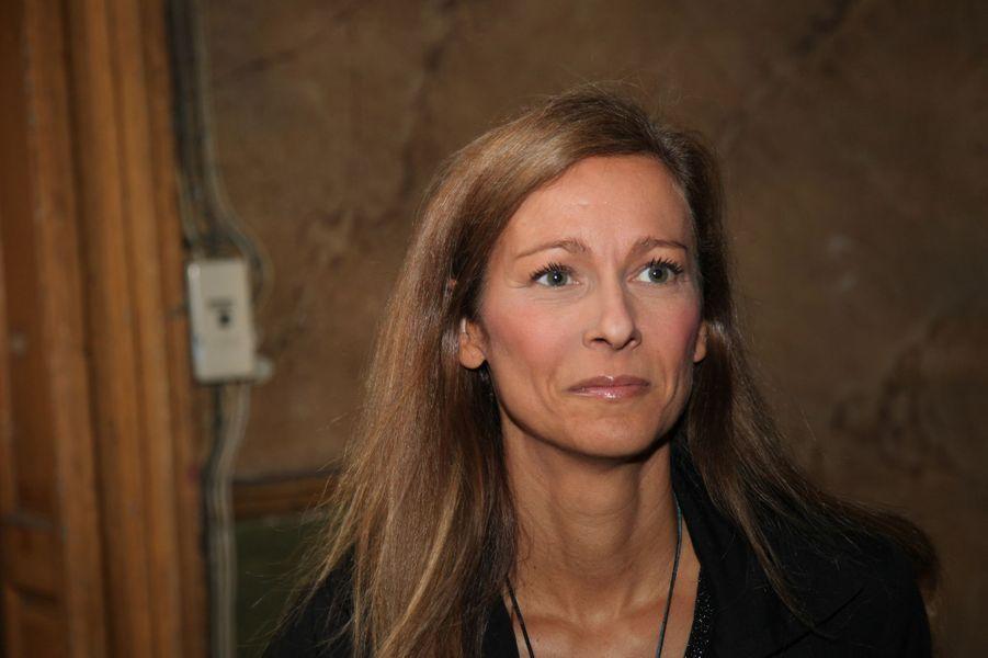 Anne Gravoin au Nouvel An juif de Marek Halter à Paris, le 28 septembre 2014