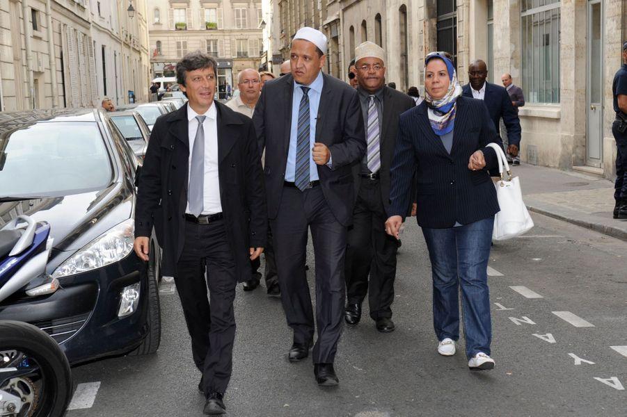 David Assouline, Hassen Chalgoumi, Latifa Ibn Zlaten à Paris, le 28 septembre 2014