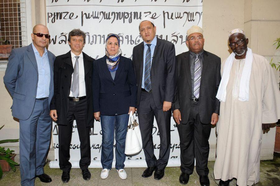 David Assouline, Hassen Chalgoumi, Latifa Ibn Zlaten au Nouvel An juif de Marek Halter à Paris, le 28 septembre 2014