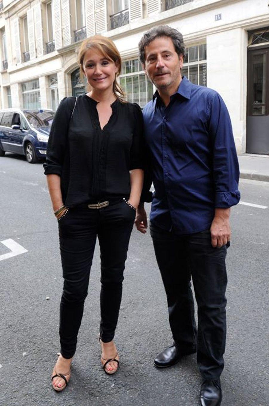 Dianela Lumbroso et son mari Eric Ghebali au Nouvel An juif de Marek Halter à Paris, le 28 septembre 2014