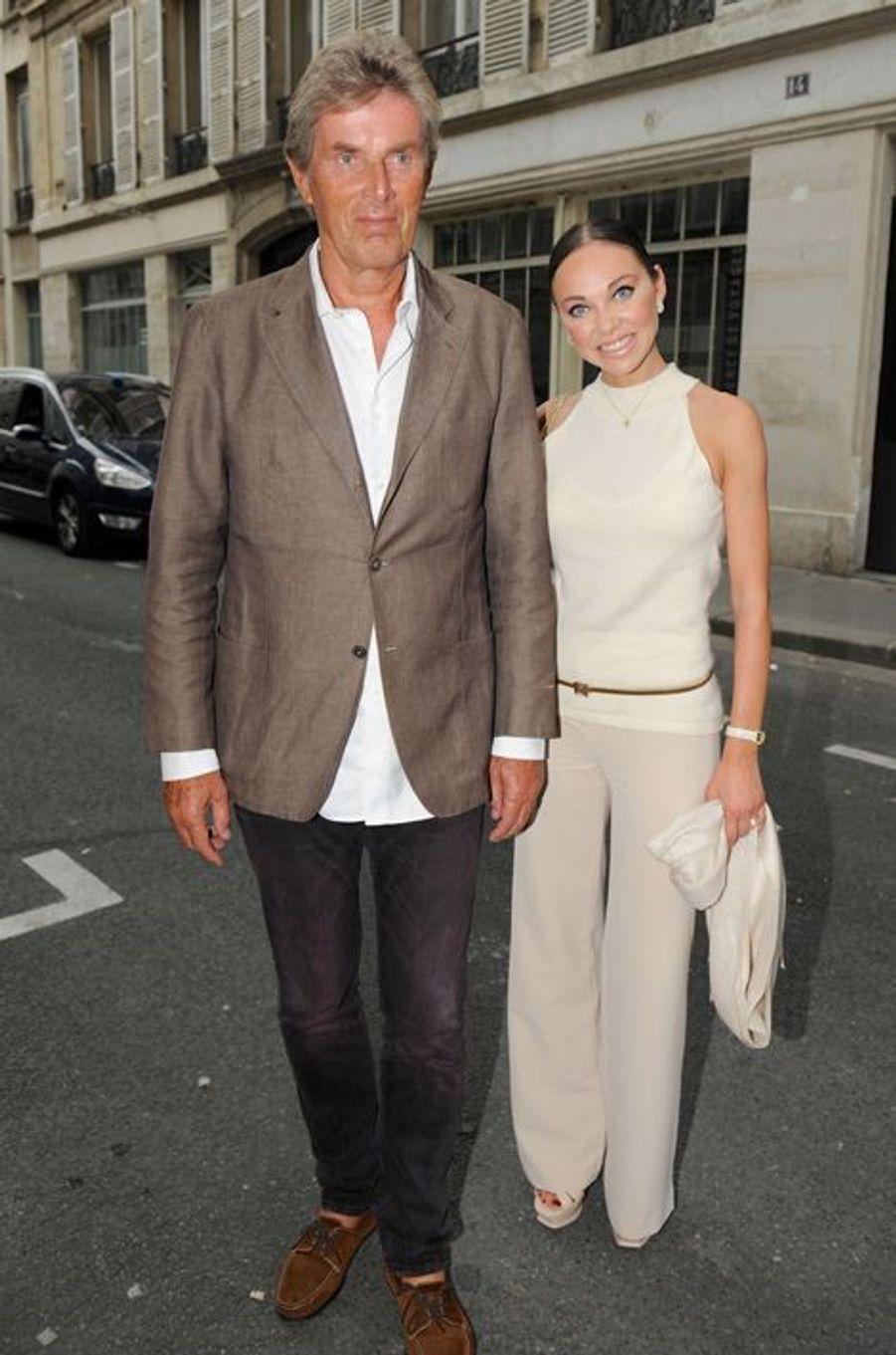 Dominique Desseigne et Alexandra Cardinale au Nouvel An juif de Marek Halter à Paris, le 28 septembre 2014