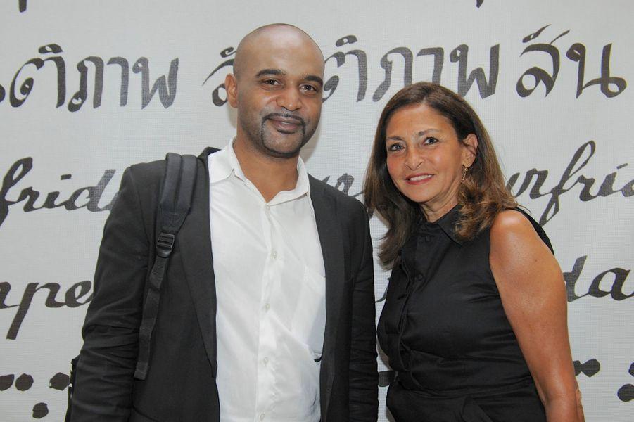 Dominique Sopo et Nicole Guedj au Nouvel An juif de Marek Halter à Paris, le 28 septembre 2014
