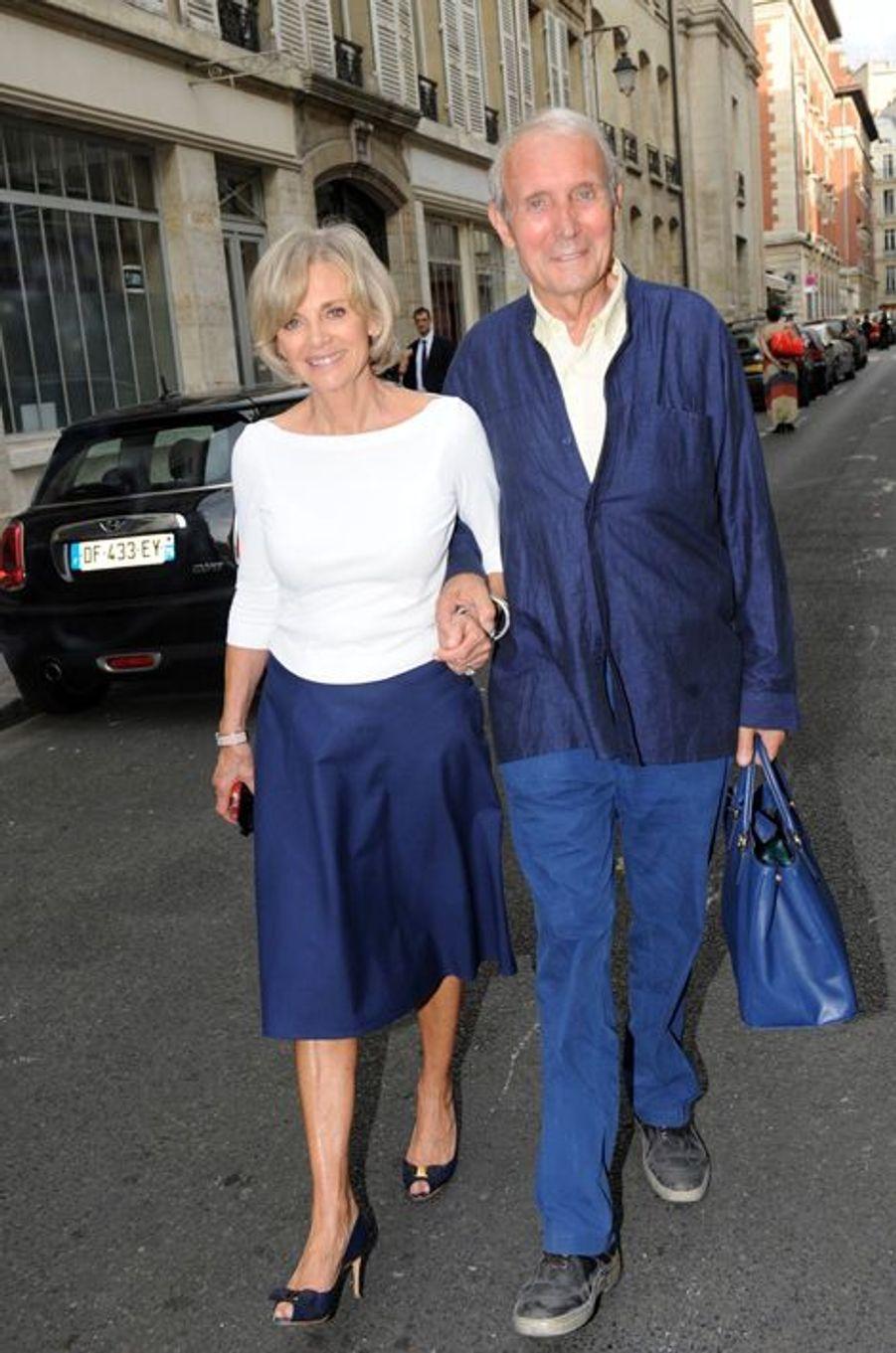 Elisabeth Gigou et son mari au Nouvel An juif de Marek Halter à Paris, le 28 septembre 2014