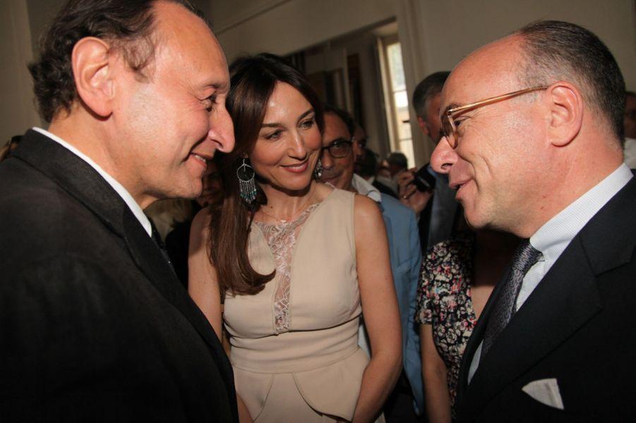 Elza Zylberstein et Bernard Cazeneuve au Nouvel An juif de Marek Halter à Paris, le 28 septembre 2014