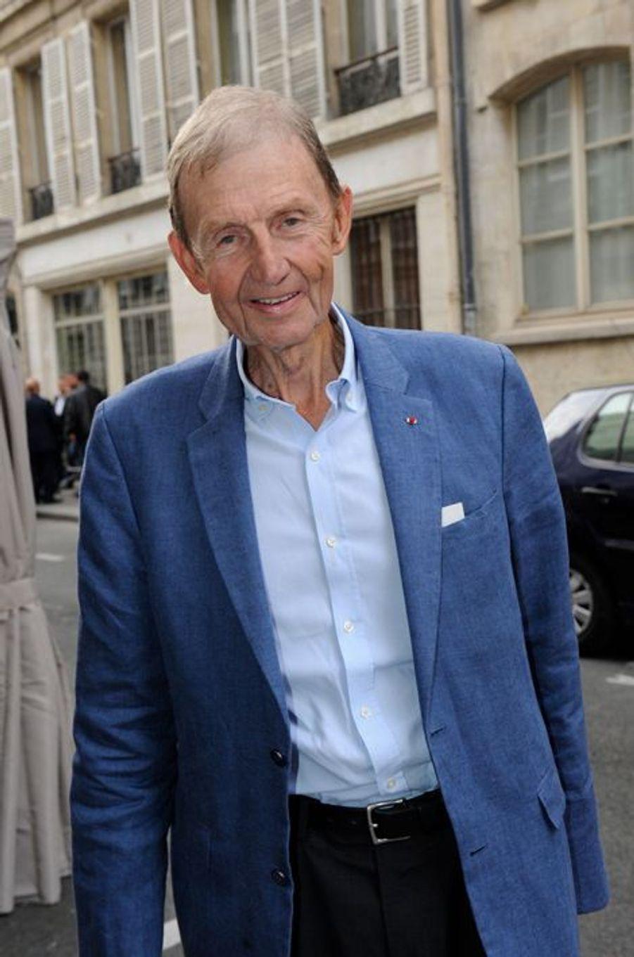 Etienne Mougeotte au Nouvel An juif de Marek Halter à Paris, le 28 septembre 2014