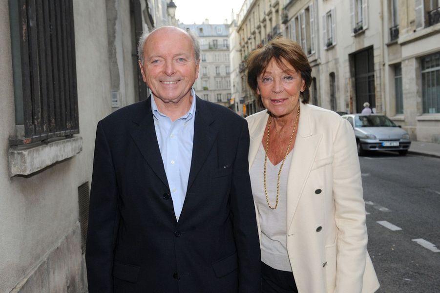 Jacques Toubon et sa femme au Nouvel An juif de Marek Halter à Paris, le 28 septembre 2014