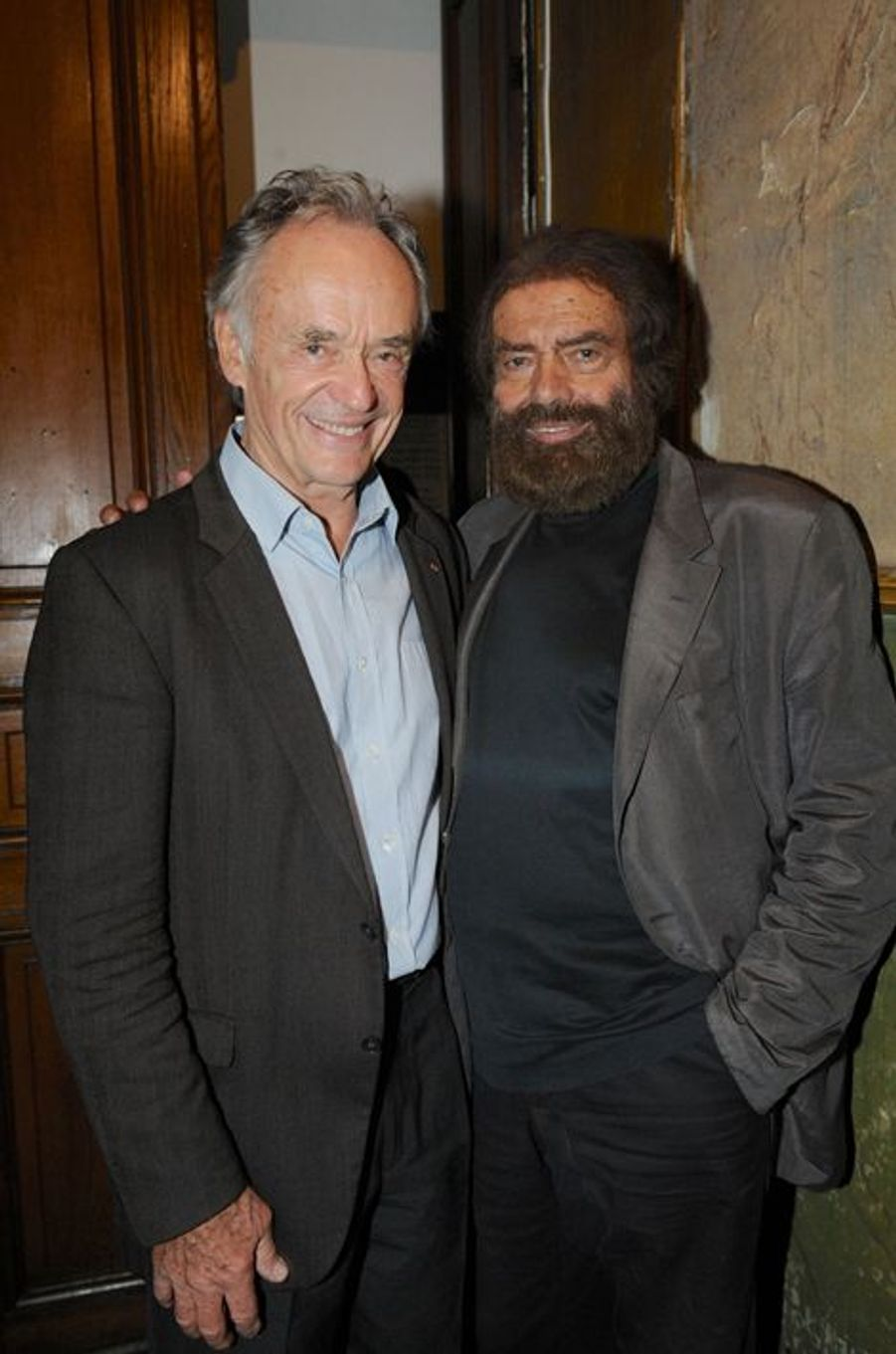 Jean-Claude Casadesus et Marek Halter à Paris, le 28 septembre 2014