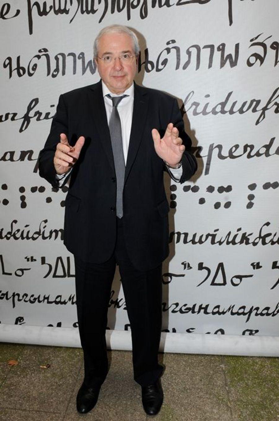 Jean-Paul Huchon au Nouvel An juif de Marek Halter à Paris, le 28 septembre 2014