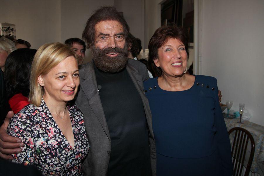 L'épouse de Bernard Cazeneuve, Marek Halter et Roselyne Bachelot à Paris, le 28 septembre 2014