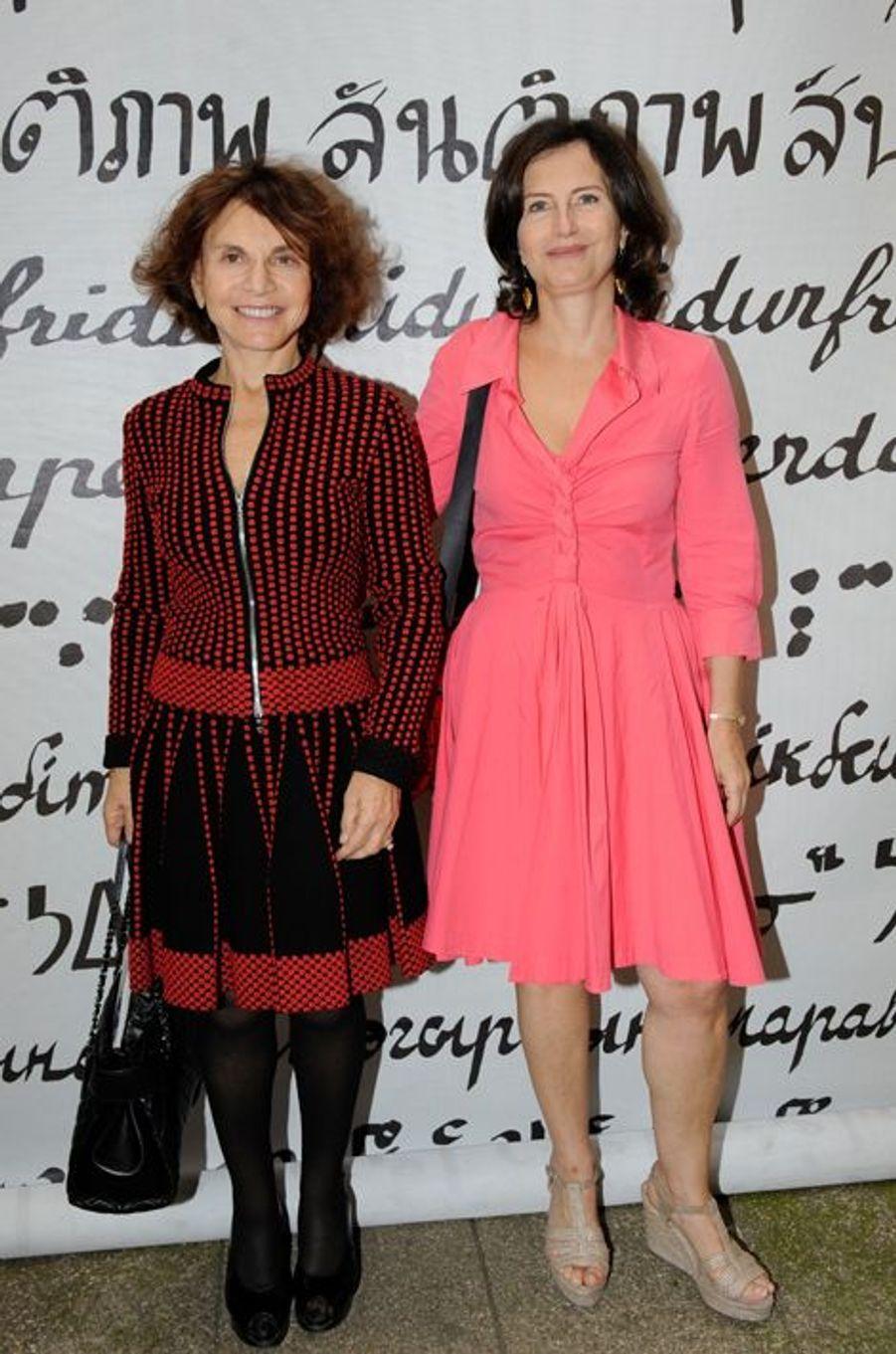 L'épouse et la fille de Jack Lang au Nouvel An juif de Marek Halter à Paris, le 28 septembre 2014