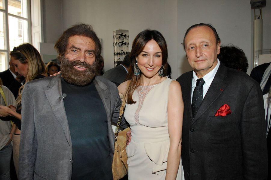 Marek Halter, Elsa Zylberstein et André Nemarq à Paris, le 28 septembre 2014