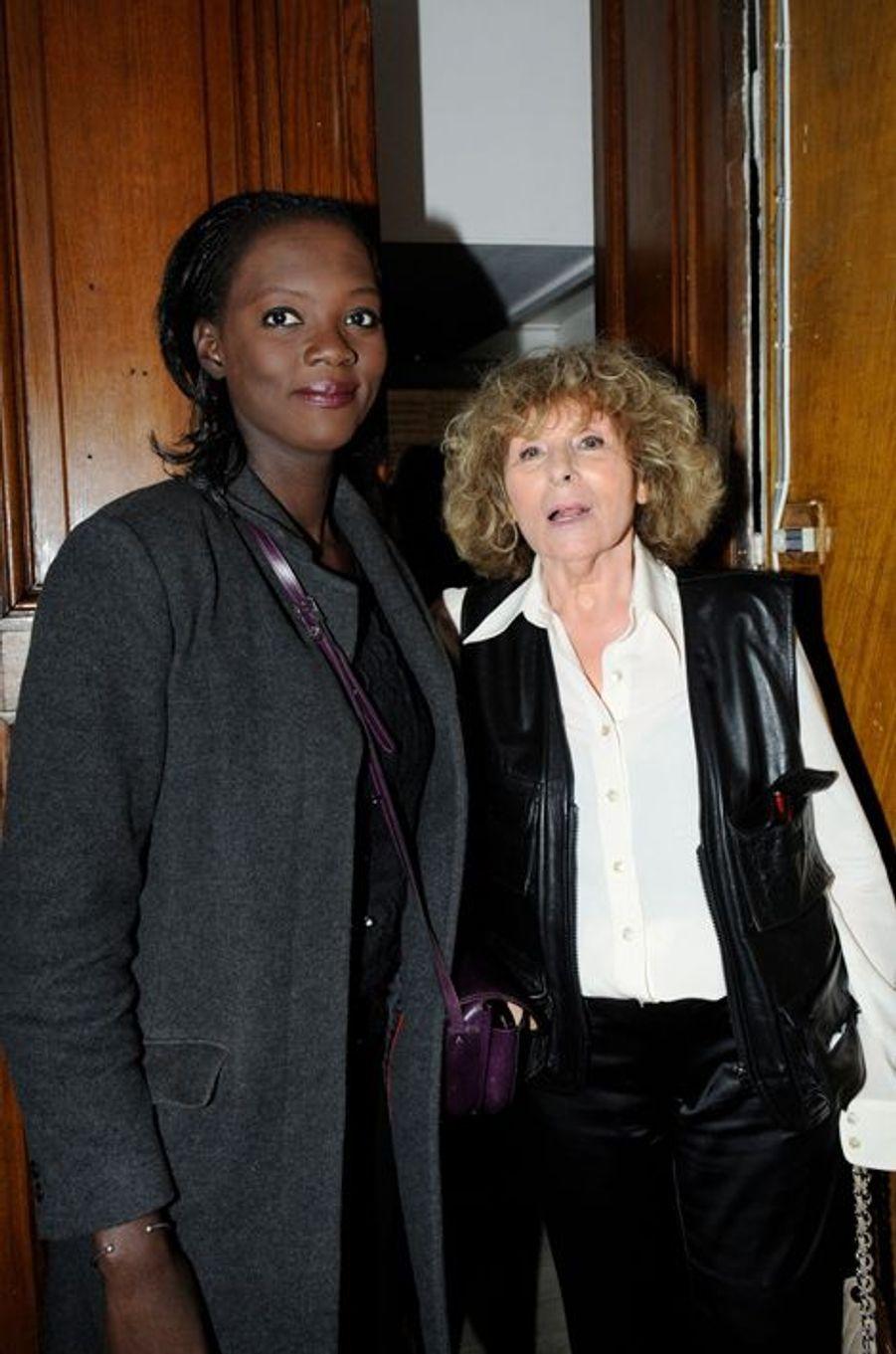 Rama Yade et Clara Halter au Nouvel An juif de Marek Halter à Paris, le 28 septembre 2014