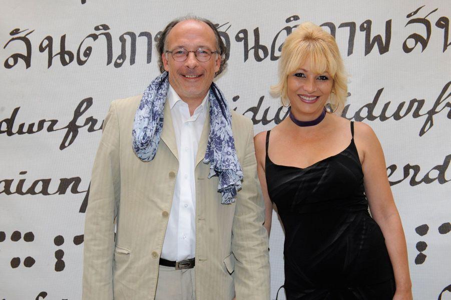 Yves Thréard et Theodora Khorsand au Nouvel An juif de Marek Halter à Paris, le 28 septembre 2014