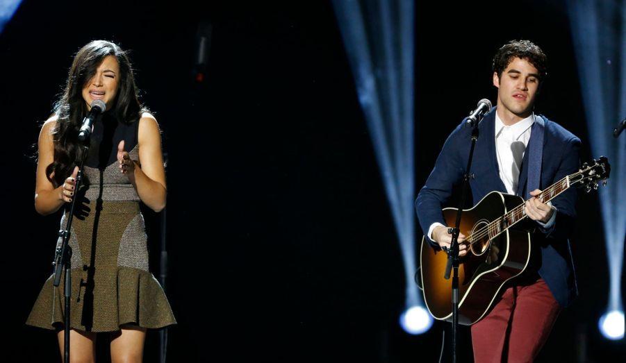 "Naya Rivera et Darren Criss de ""Glee"""