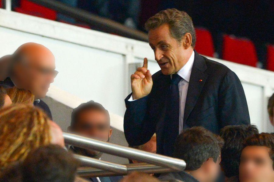Nicolas Sarkozy au Parc des Princes à Paris, le 21 septembre 2014.