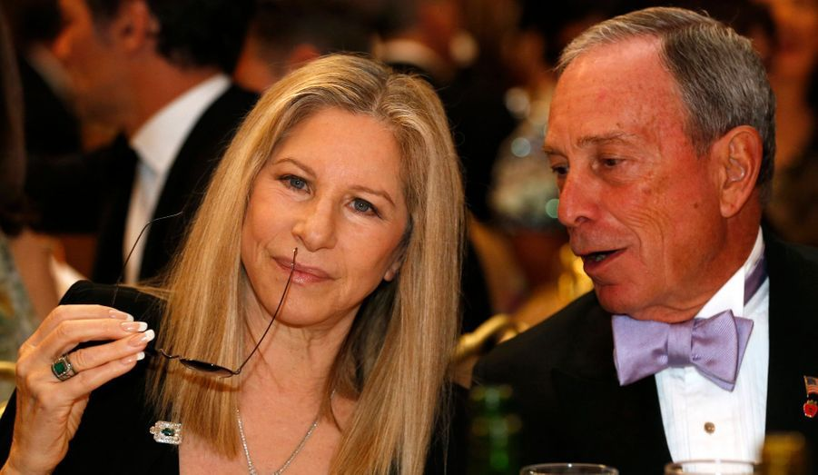 Barbra Streisand et Michael Bloomberg, le maire de New York