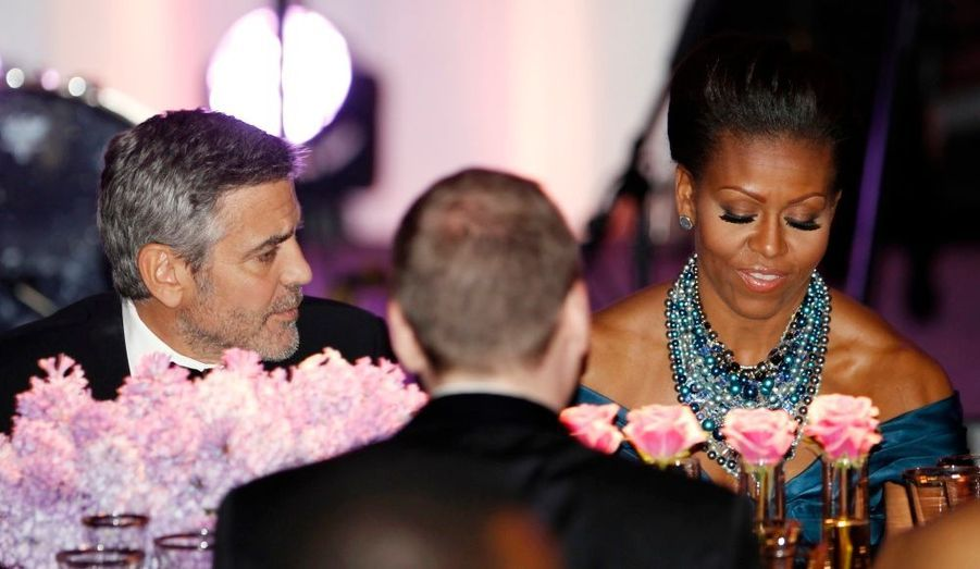 George Clooney et Michelle Obama
