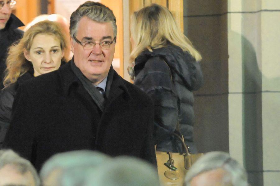 Jean-Paul Delevoye à la messe à la mémoire de l'ancien sénateur Xavier de Villepin à Paris, le 12 novembre 2014