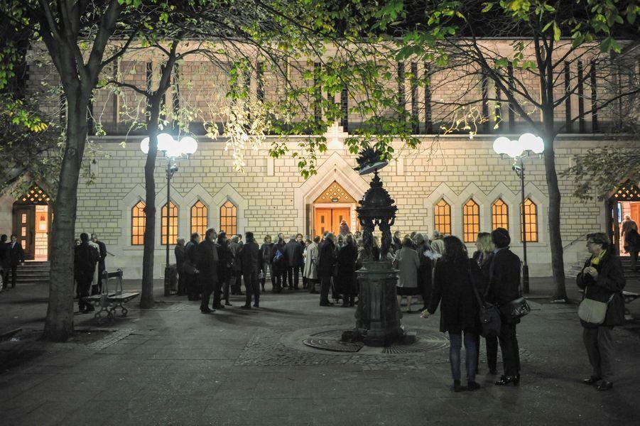 Messe à la mémoire de l'ancien sénateur Xavier de Villepin à Paris, le 12 novembre 2014