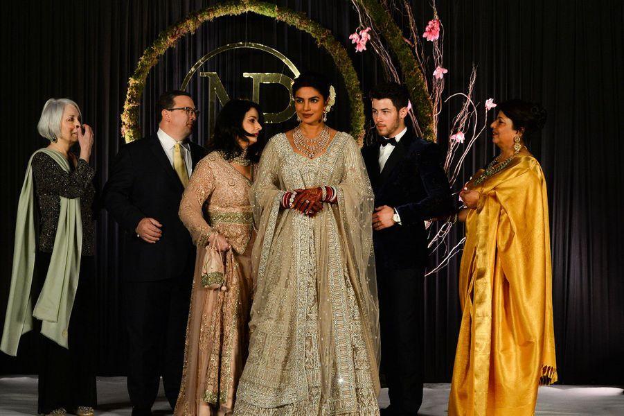 Priyanka Chopra, Nick Jonas et leurs familles