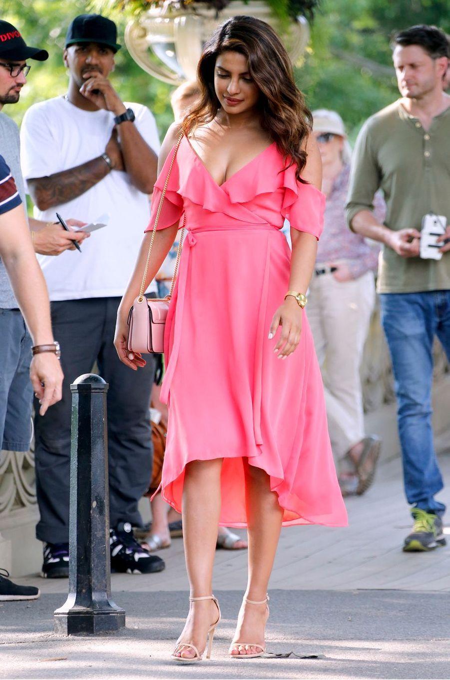 Priyanka Chopra à Central Park, à New-York le 11 juillet 2017.