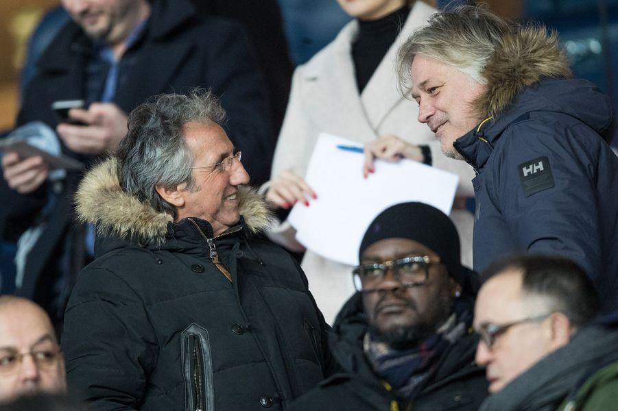 Richard Anconina et Denis Charvetau Parc des Princes lors du match PSG-Lille le 22 novembre 2019