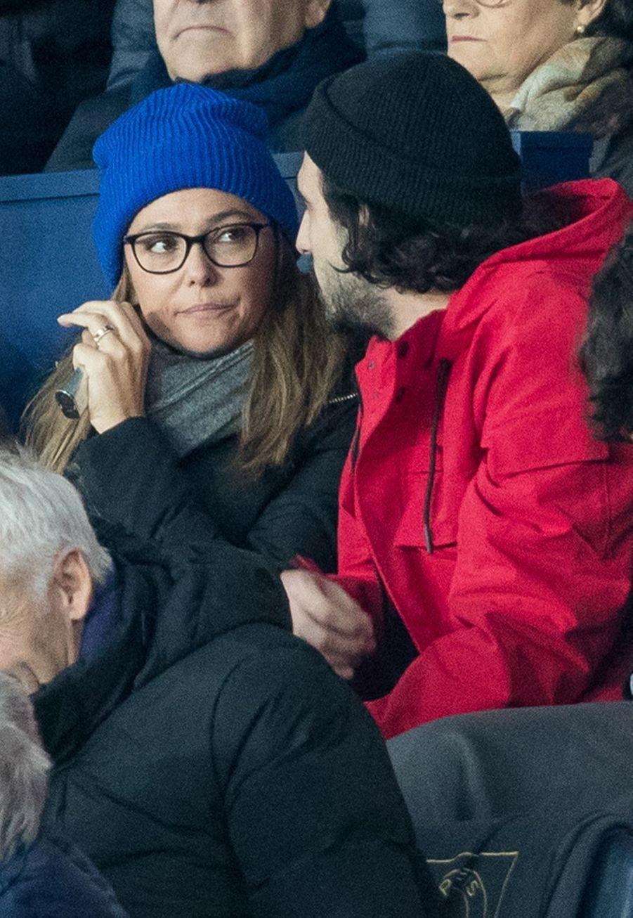 Sandrine Quétier au Parc des Princes lors du match PSG-Lille le 22 novembre 2019