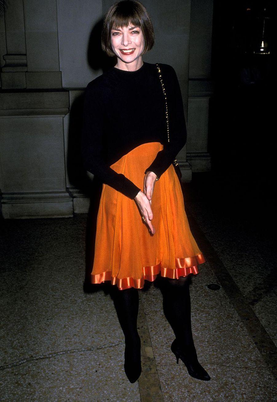 Anna WintourauMetropolitan Museum of Art de New York en décembre 1988.
