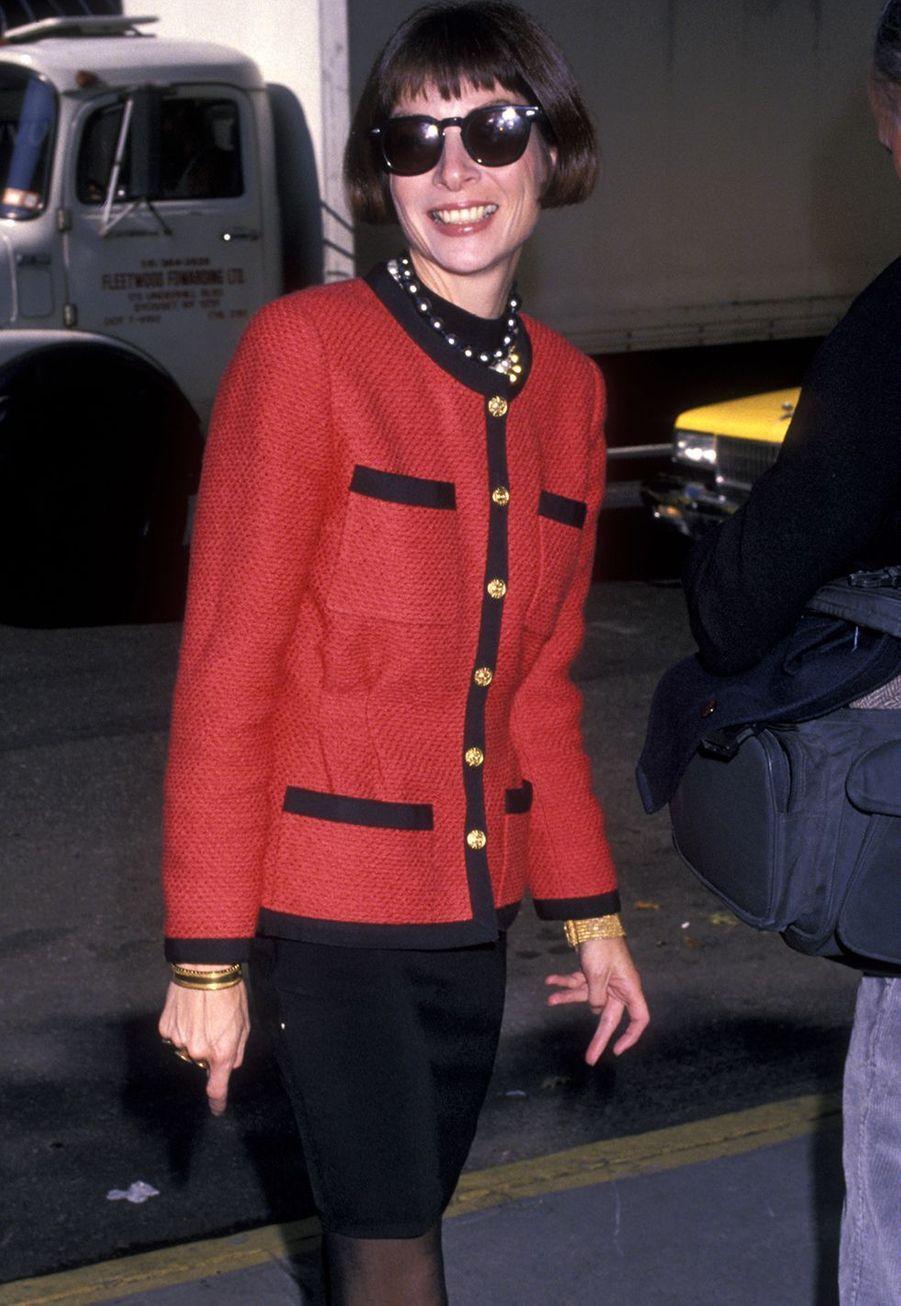 Anna Wintourà l'église St. Vincent à New York en octobre 1989.