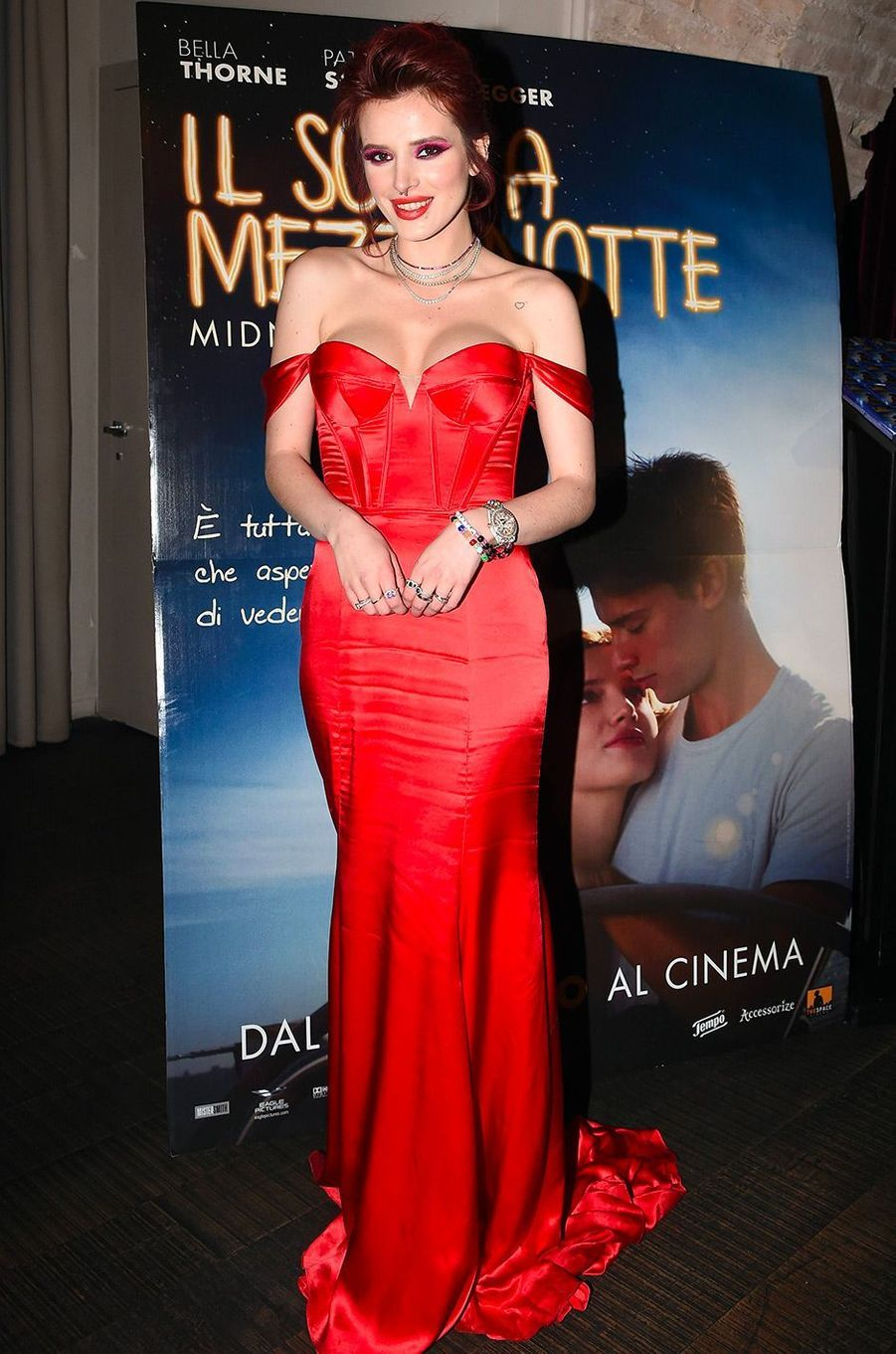 Bella Thorne à Rome le 27 février 2018