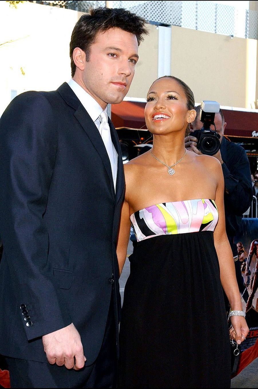 Jennifer Lopez et Ben Affleck à la première du film «Daredevil» à Los Angeles en février 2003