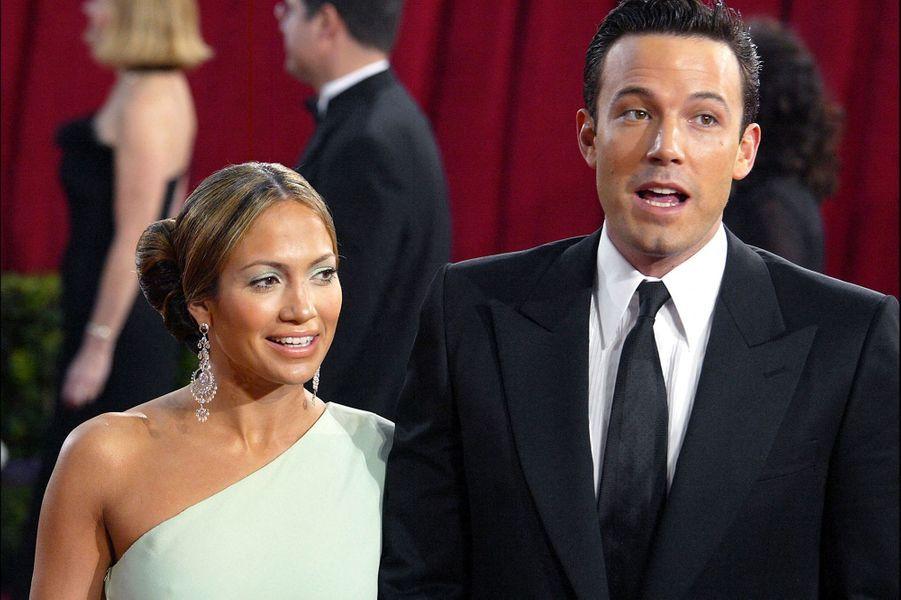 Jennifer Lopez et Ben Affleck aux Oscars à Los Angeles en mars 2003