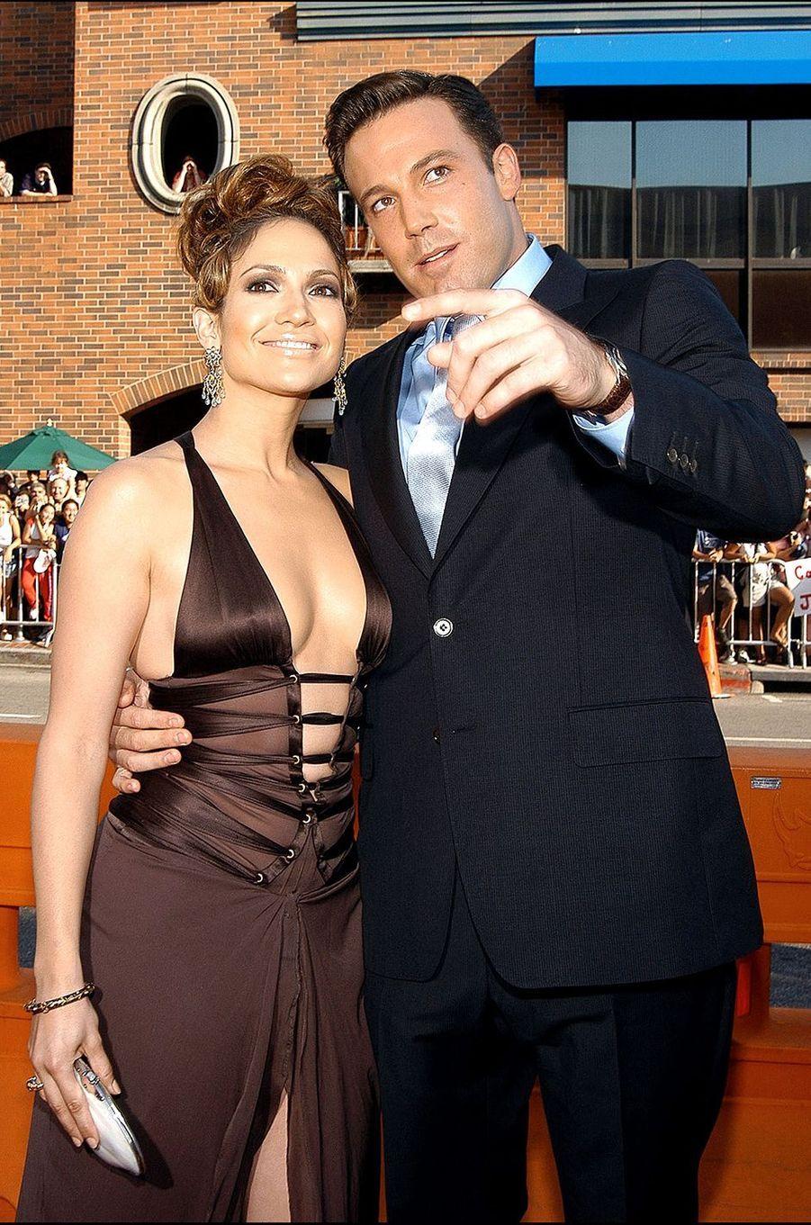 Jennifer Lopez et Ben Affleck à la première du film «Gigli» à Los Angeles en juillet 2003
