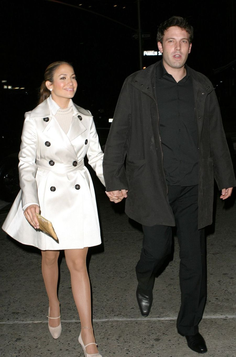 Jennifer Lopez et Ben Affleck à New York en octobre 2003