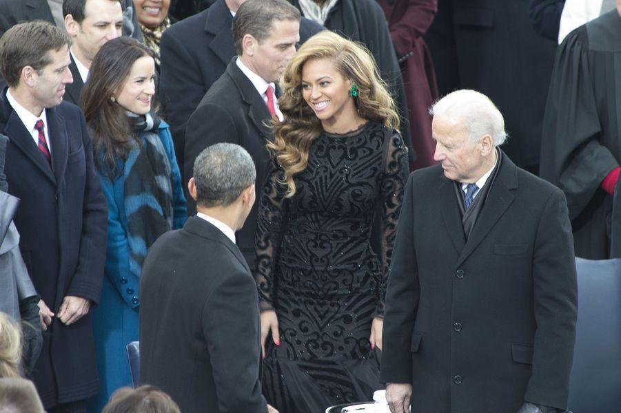 Beyoncé lors de la seconde investiture de Barack Obama à Washington le 21 janvier 2013