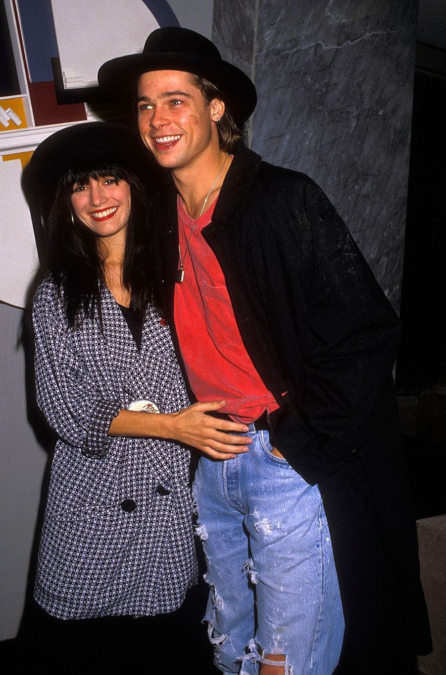Brad Pitt et Jill Scholen en 1988