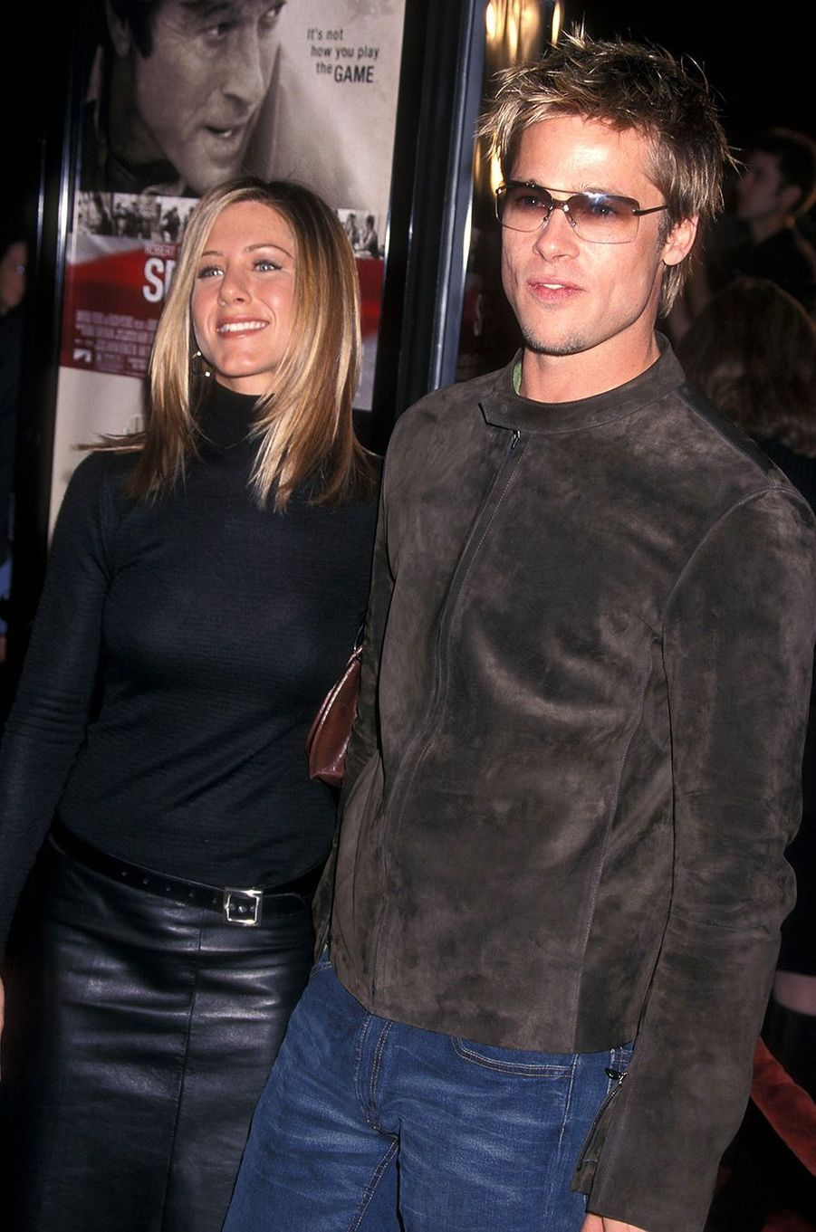 Brad Pitt et Jennifer Aniston en 2001