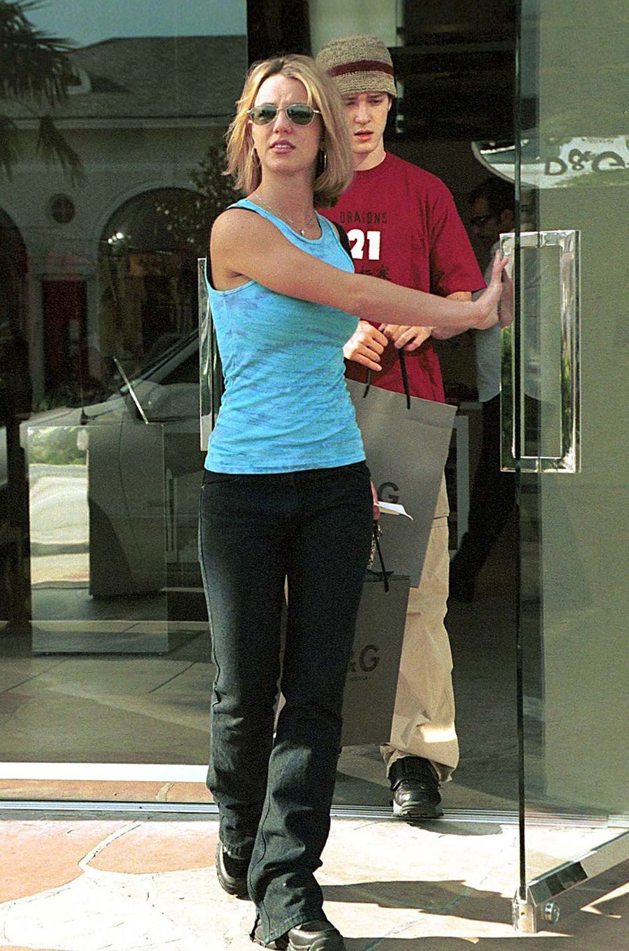 Britney Spears et Justin Timberlake à Los Angeles en mars 2000