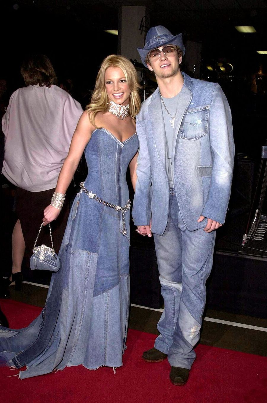Britney Spears et Justin Timberlake à Los Angeles aux American Music Awards en janvier 2001
