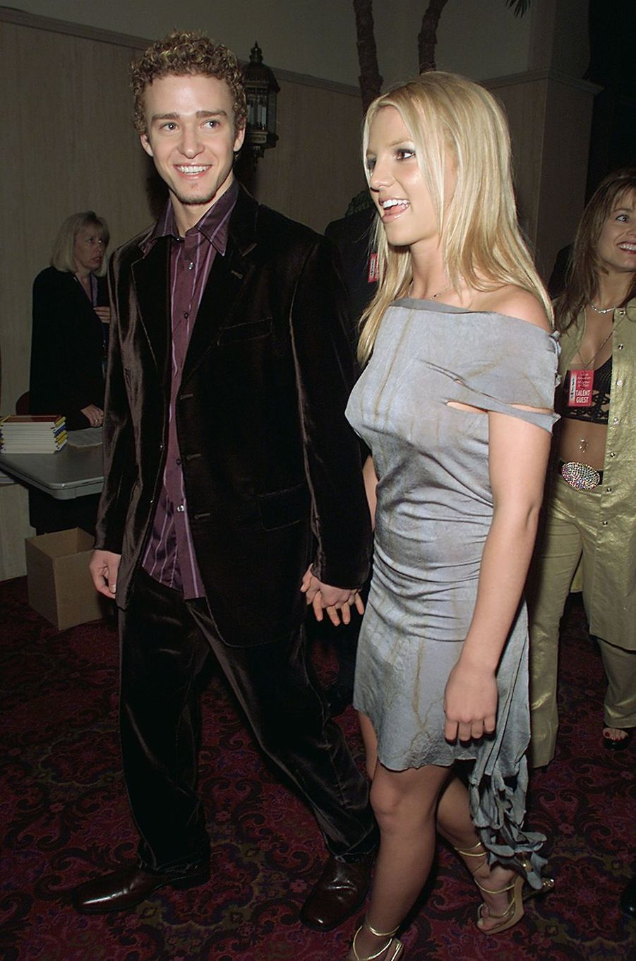 Britney Spears et Justin Timberlake à Las Vegas lors des Billboard Music Awards en décembre 2000