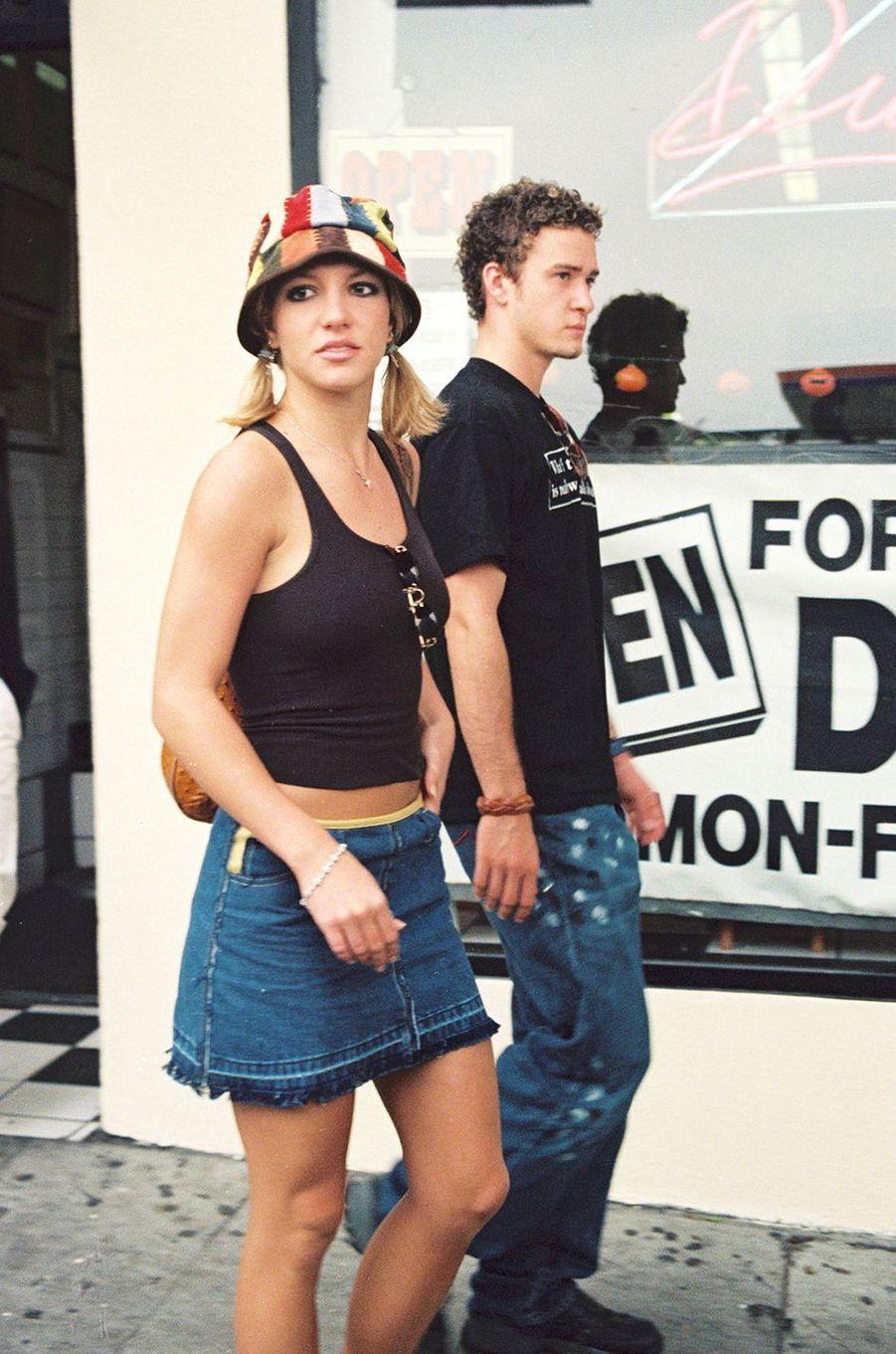 Britney Spears et Justin Timberlake à Los Angeles en octobre 2000