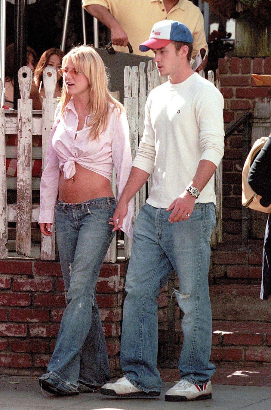 Britney Spears et Justin Timberlake à Los Angeles en octobre 2001