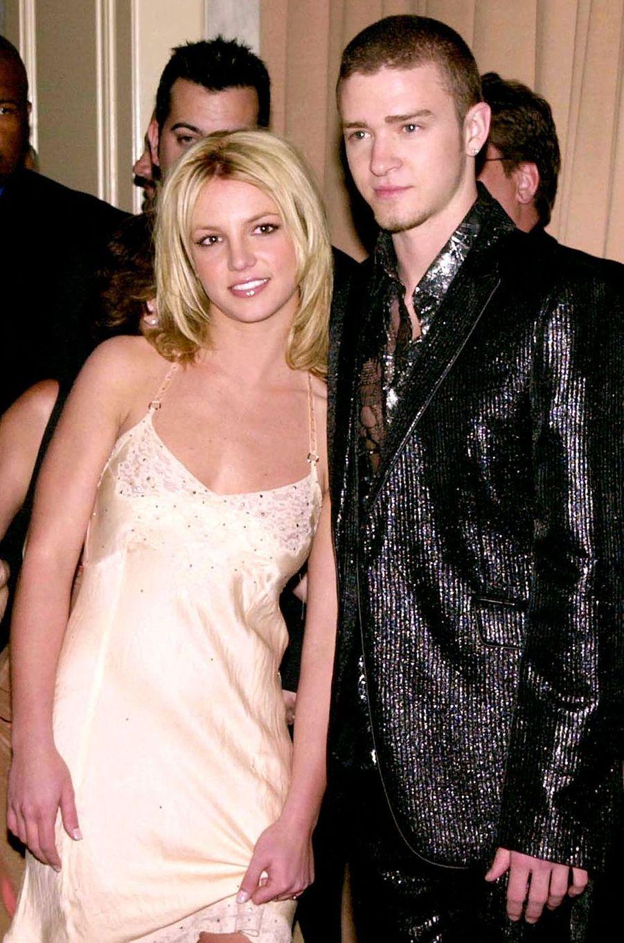 Britney Spears et Justin Timberlake lors d'une soirée à Los Angeles en avril 2001