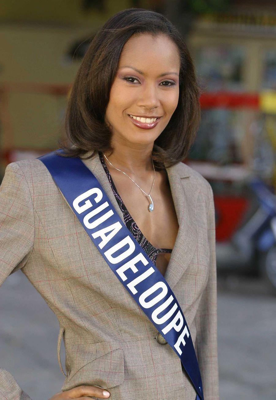 Corinne Coman lorsqu'elle était Miss Guadeloupe, peu de temps avant son élection fin 2002
