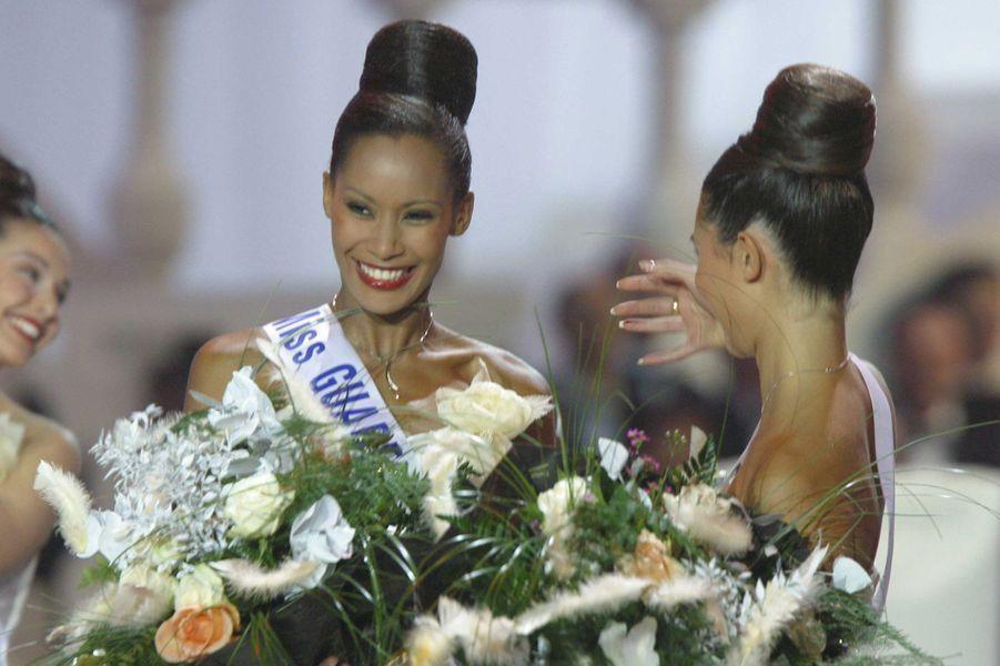 Corinne Coman sacrée Miss France 2003à Lyon le 14 décembre 2002